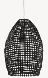 Hanglamp Sien van zwart rotan 46 cm
