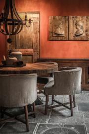 Eettafel Claire met grof, robuust houten blad - 140 cm