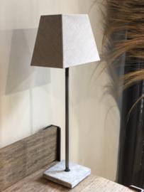 Lampenkap rechthoekig taupe