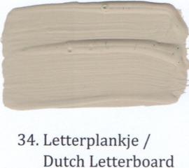 34 Letterplankje  - Matte lak OH Terpentinebasis