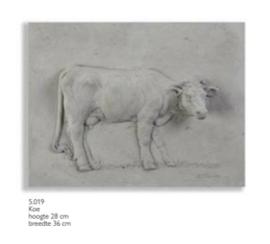 Schilderij beton koe