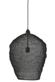 Hanglamp Sjaan van zwart gaas met glanzende finish L
