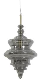 Hanglamp Mikke van smokeglas met goud 26x40 cm