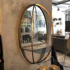 Spiegel ovaal van koper/goud - 80x40x20 cm