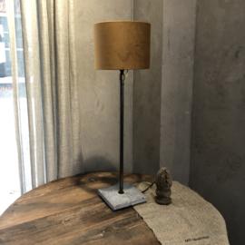 Lampenkap velours karamel -  20x20x15 cm