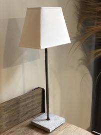Lampenkap rechthoekig 20 cm wit