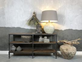 Sidetable 160x40 cm hout met metaal