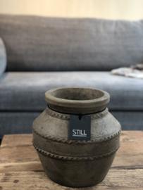 STILL Collection kruik met ribbels - maat S - Cooper brown