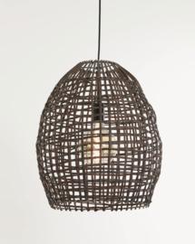 Hanglamp Sien van bruin rotan 40 cm