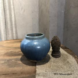 Lichtblauw antiek kruikje - H16 cm