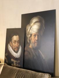 Schilderij 120x80 cm Oosterse man met tulband
