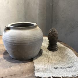 Oud kruikje lichtgrijs - H18 cm