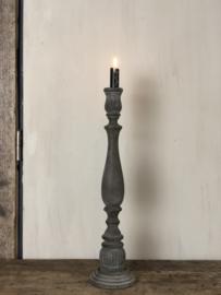 Kandelaar Nonne - Vergrijsd hout - 46 cm