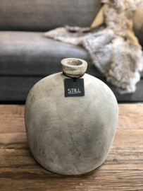 STILL Collection bulbvaas met smalle opening - maat L - Tin