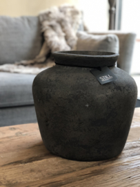 STILL Collection ronde vaas met hoge hals  - maat L - Touch of brown