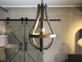 Hanglamp Cleome - Vergrijsd hout met staal