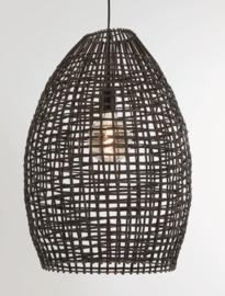 Hanglamp Sien van bruin rotan 46 cm