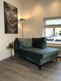 Chaise lounge Anneloes - petrol  velours