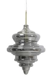 Hanglamp Mikke van smokeglas met goud 35x50 cm