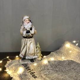 Beeld kerstman met cadeautjes 22 cm
