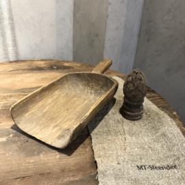 Graanschep van glad hout