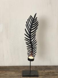 Kandelaar Eleonore - Zwart metaal - Medium