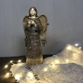 Engel bruin met goud 26 cm