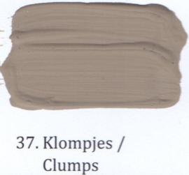 37 Klompjes - voorstrijkmiddel kalkverf op kleur