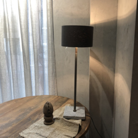 Tafellamp recht - Leistenen voet - 50 cm