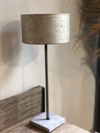 Lampenkap 25 cm Duran taupekleurig-champagne