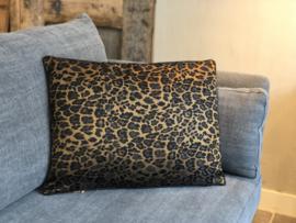 Kussen met goud/bruine luipaard print - 60x45 cm