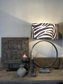 Tafellamp Eveleine - Staal en leisteen - 40 cm