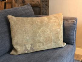 Kussen van okergeel kelim carpet - 50x70 cm