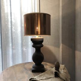 Balusterlamp van hout - 46 cm hoog