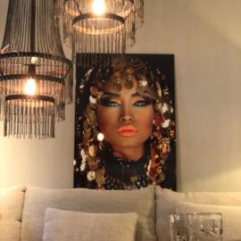 Portret van Arabische prinses 120x80 cm