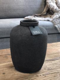 STILL Collection vaas met ronde opstaande hals - maat M - Dark grey