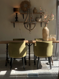 Eettafel met Versailles onderstel - 70x200 cm
