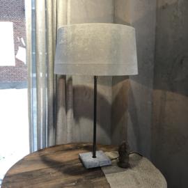 Lampenkap zink kleur van velourse stof - 45x40x22,5 cm