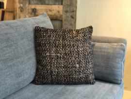Kussen met bruin tweed - 45x45 cm