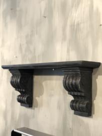 Wandschap met sierlijke sokkels - 30x60x16 cm