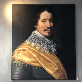 Officier met gele sjaal 120x180 cm