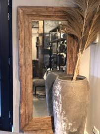 Spiegel van grof hout - 160x80 cm