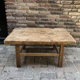 Bijzettafel - salontafel verweerd hout
