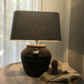 Kruiklamp met ribbels S - Touch of brown - Still Collection