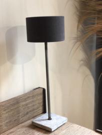 Lampenkap 20 cm houtskool