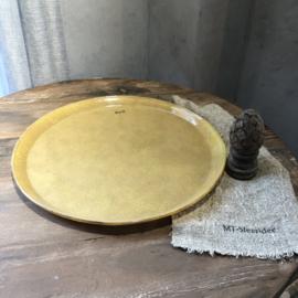 Schaal van glas - Golden chique - 45 cm