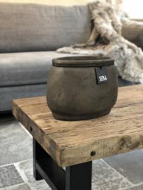 STILL Collection ovalen pot met klassieke rand - maat S - Cooper brown