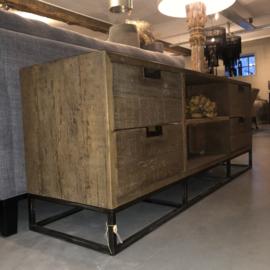Tv-meubel robuust met metalen onderstel