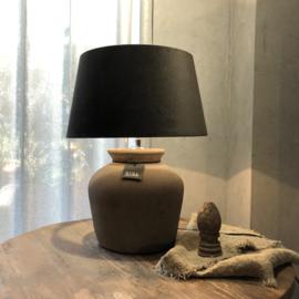 Kruiklamp ronde vaas M - Tin - Still Collection