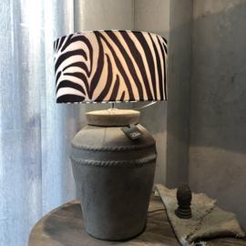 Kruiklamp met ribbels L - Tin - Still Collection